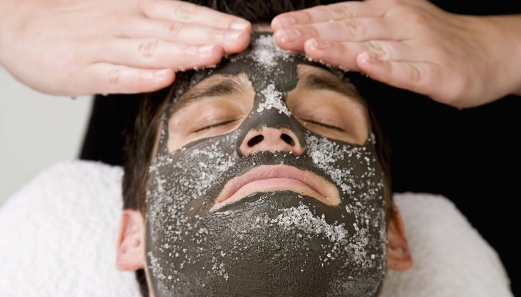 Masks and other exfoliants can help control acne blemishes.