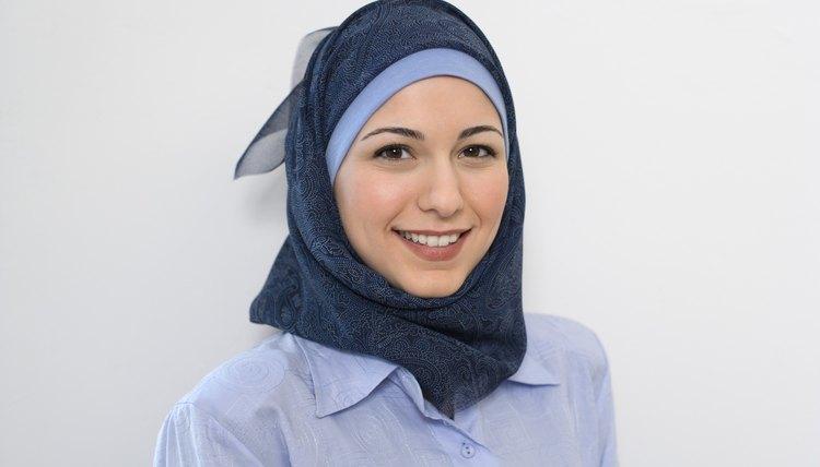 Muslim woman in hijab.