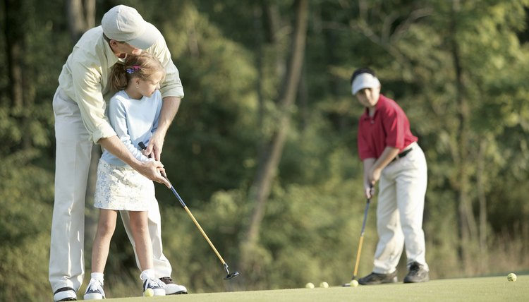 Teaching children how to play golf is much different than teaching adults.
