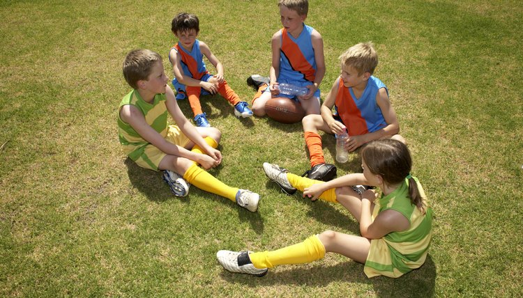 Elementary students learn how to be good sports.