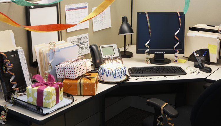 Giving birthday gifts at work can be nice, but be professional about it.