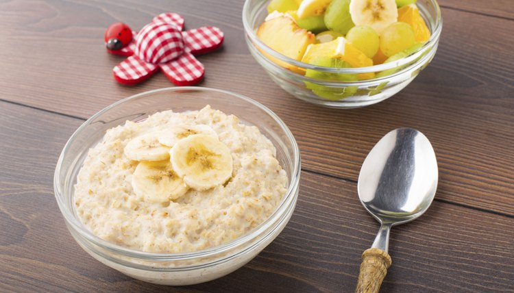 Small bowl of oat porridge.