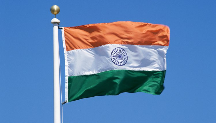 The three colors of the Indian flag represent India's national virtues.
