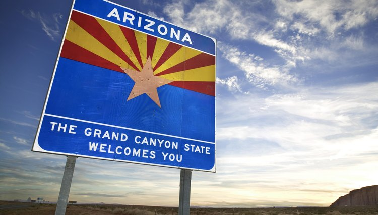 Welcome to state of Arizona sign