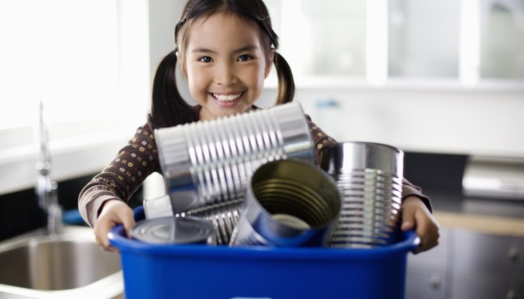 Teach girls the importance of recycling, and have them do it at home.
