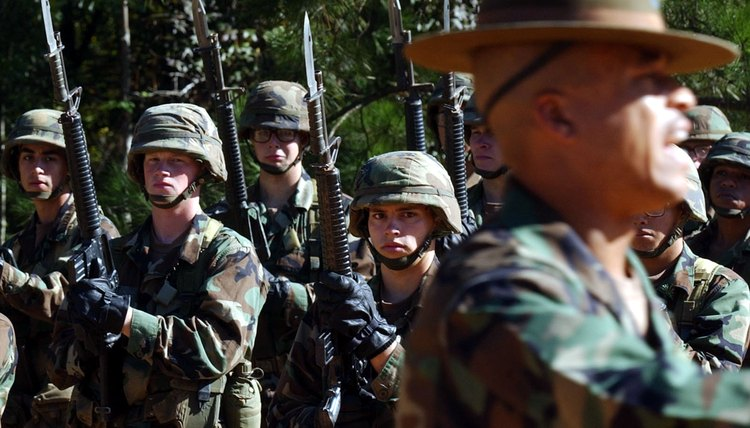 U.S. Army Infantry recruits during basic training at Fort Benning