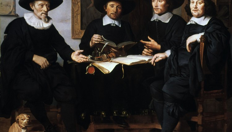 Seventeenth century painting of Dutch Quakers.