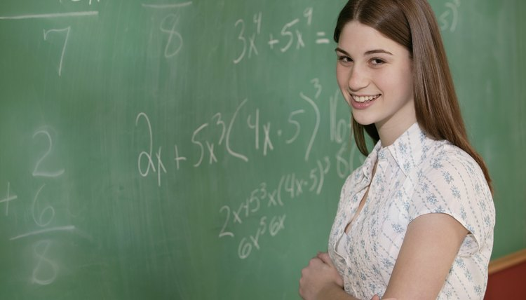 Middle school math prepares students for advanced math classes.