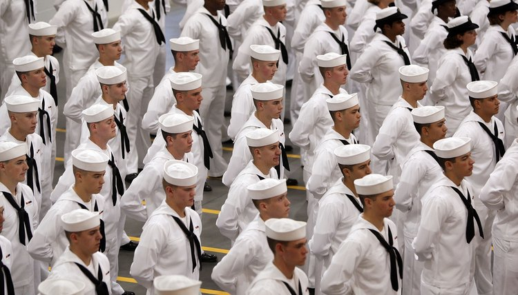Recruits Train At Great Lakes Navy Boot Camp