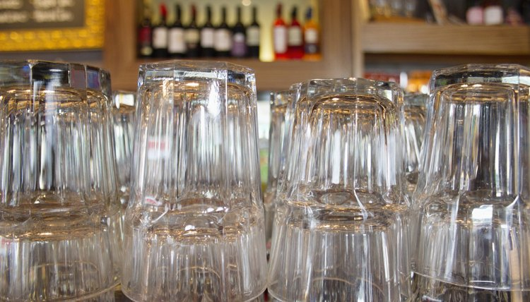 Upturned Glasses At A Pub Counter  Collector Job Description