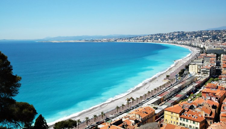 Nice is on the Mediterranean coast.