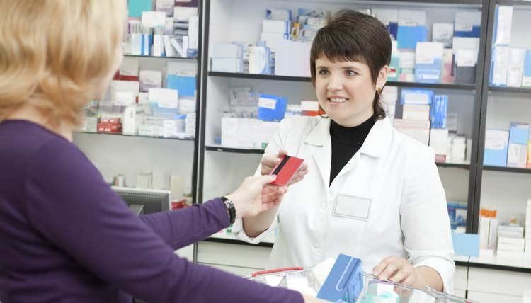 Buying with Credit Card in the Pharmacy.