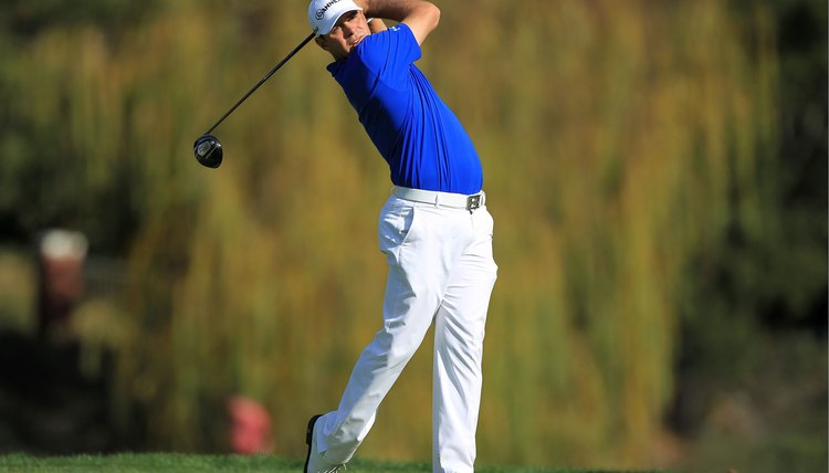 A power player with a fast swing speed such as PGA Tour player Gary Woodland needs a higher flex point to help keep his shots under control.