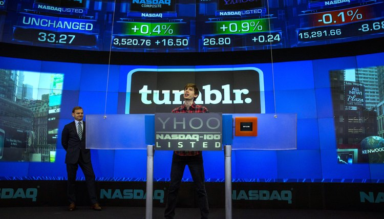 Tumblr founder David Karp opened the NASDAQ stock exchange.