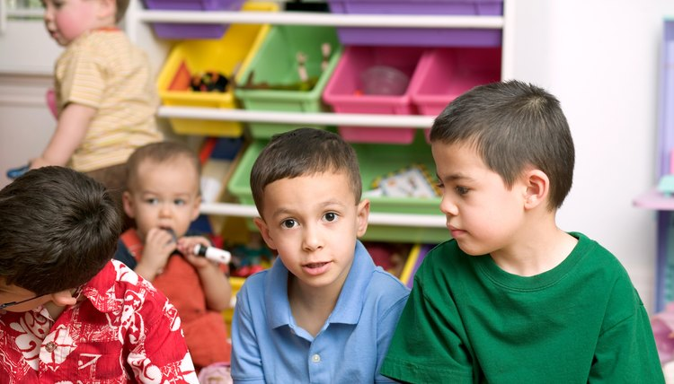 Kindergarteners improve oral language skills by interacting with peers.