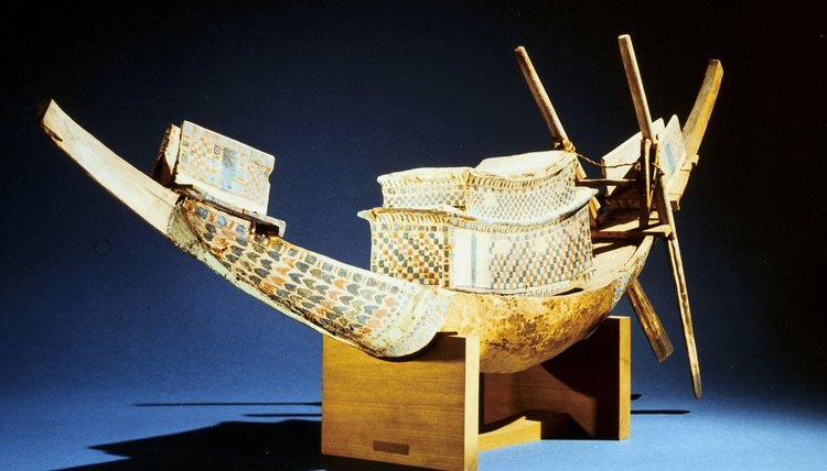 Funeral boats were crafted for the most powerful Egyptians.