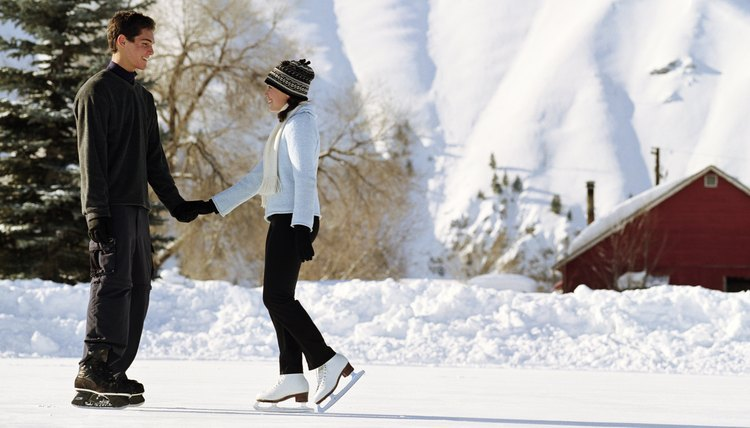 Take to the ice for a fun Saturday morning date.