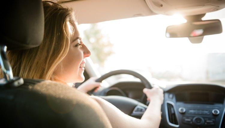 Evening drive - teenager at car