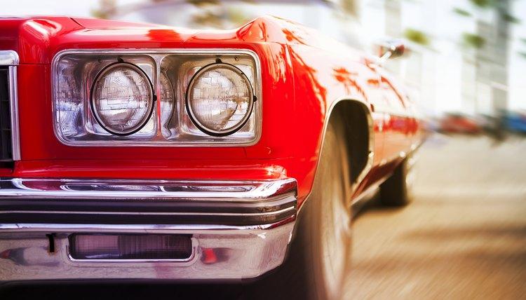 Red classic car, Miami, Florida