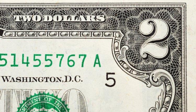 US two dollar bill