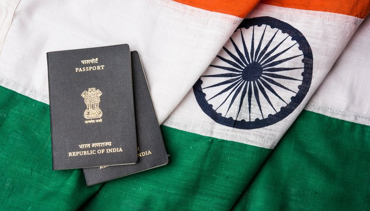 Indian passports and Indian flag