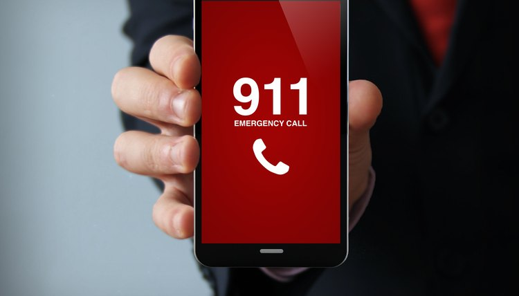 Emergency 911 call on smartphone