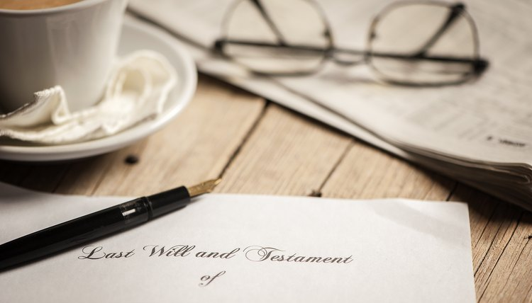 Last will and testament form