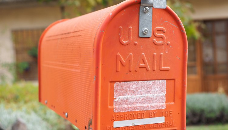 US vintage mail box
