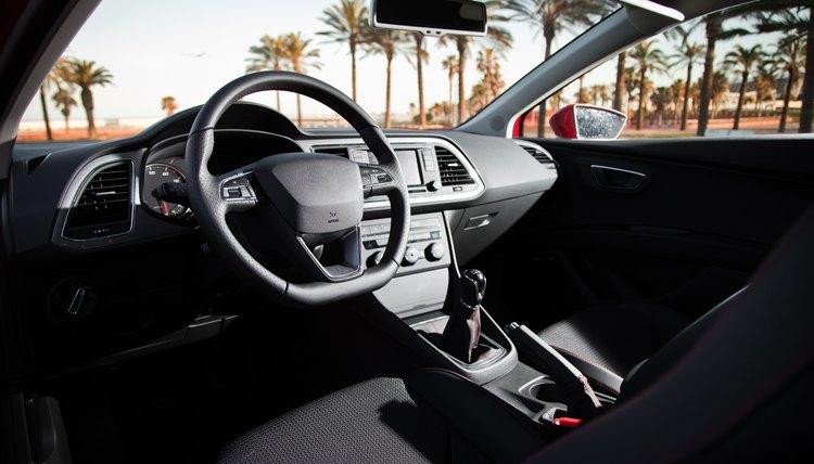 Dashboard in modern car