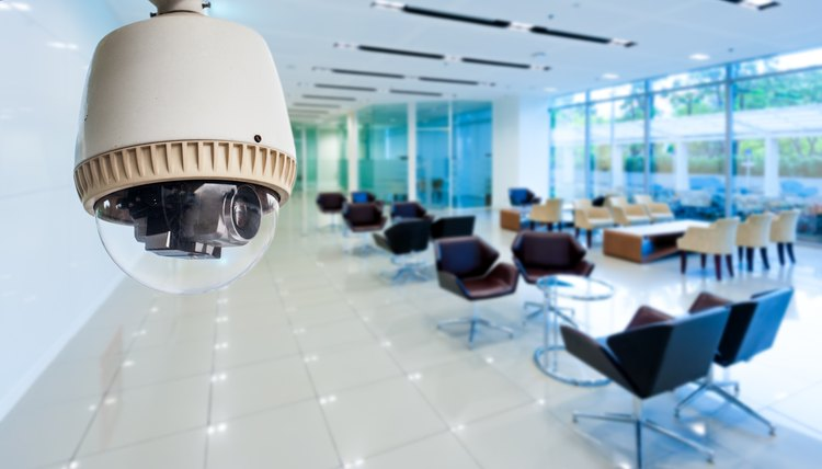 Surveillance cameras operating in office building