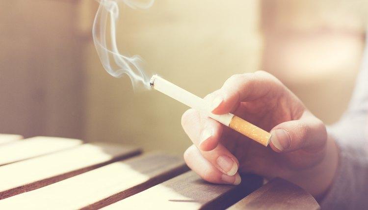 Woman smoker smoking a cigarette