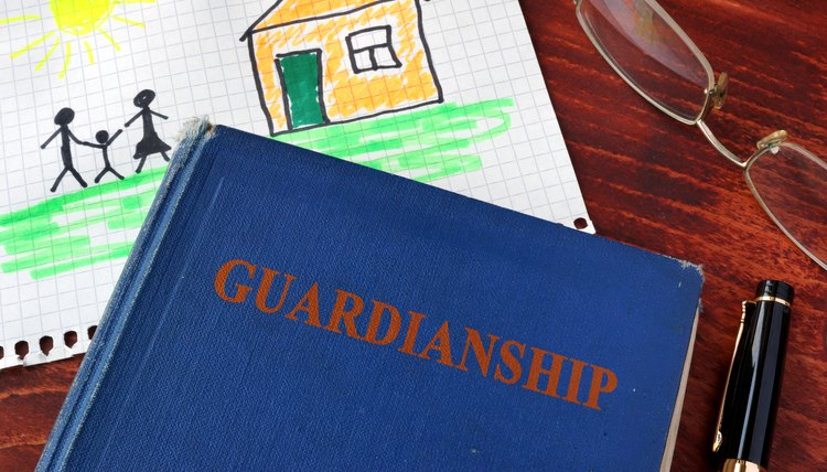 Book with title Guardianships and children's picture.