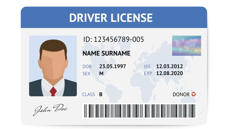 Driver license plastic card template