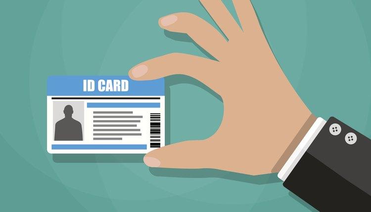 Hand holding Photo ID Card