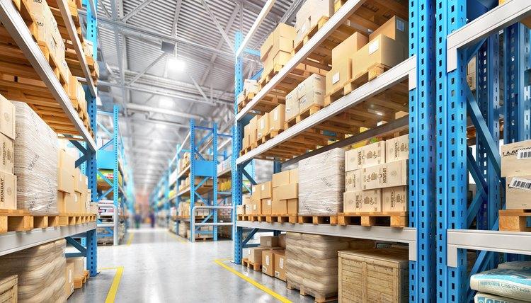 Empty warehouse full of cargo