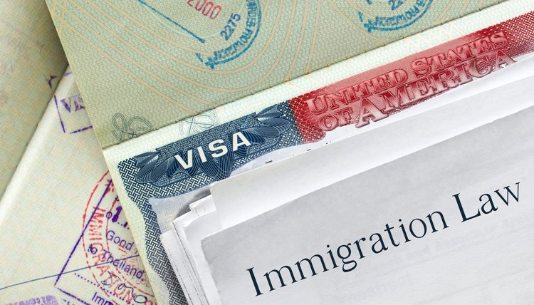 Passport, visa and immigration law paperwork