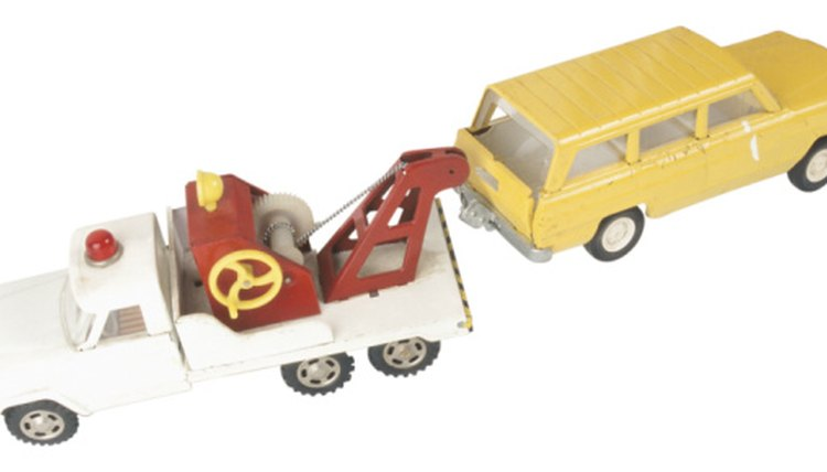 toy car being towed