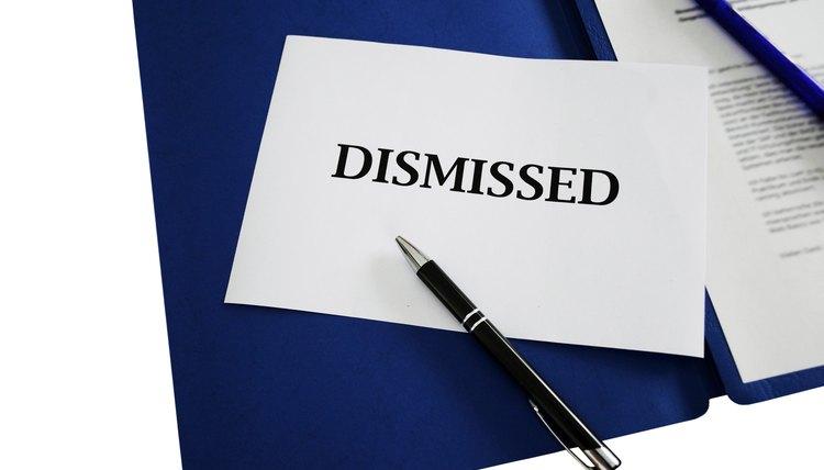 dismissed / dismissal sign - job, economy, business & career