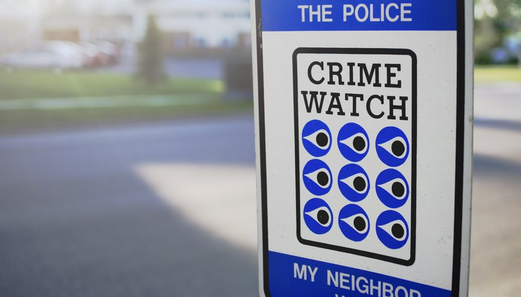 Crime Watch Sign By Street