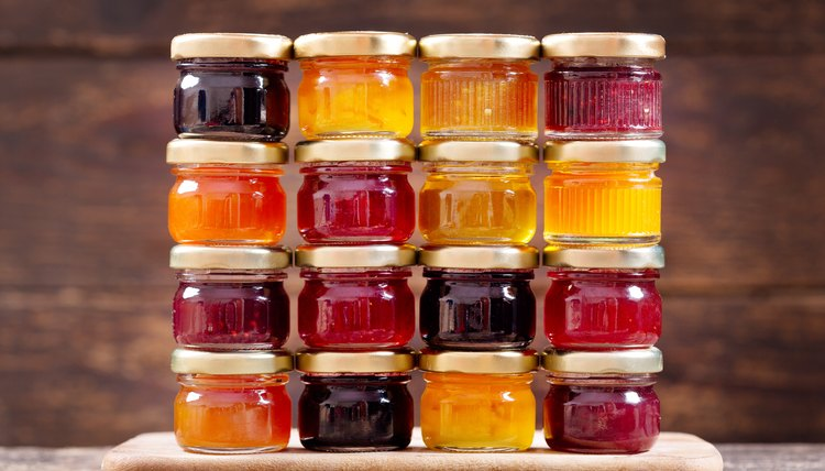 Various jars of preserves