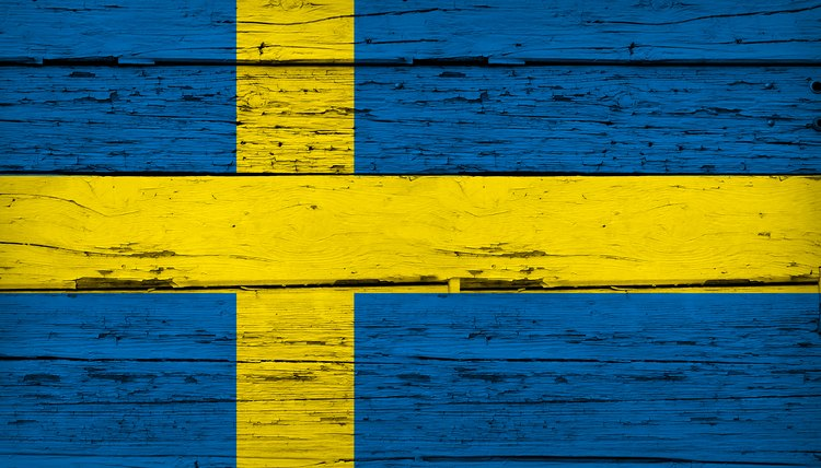 Sweden Flag Grunge Background