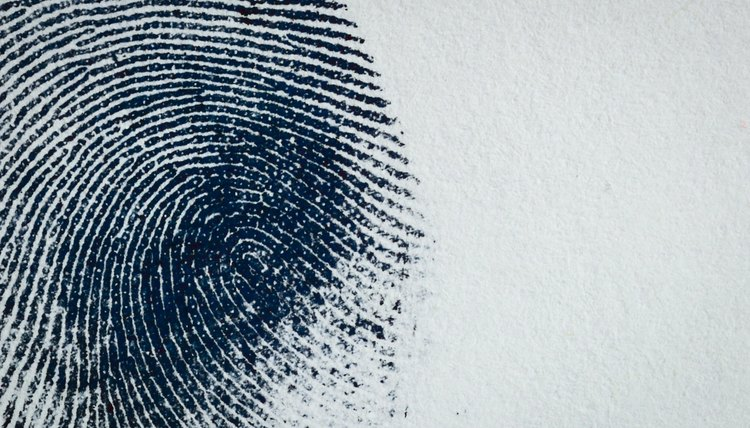 Fingerprint on paper