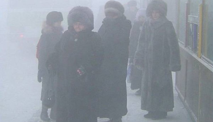 Cold Russians in Winter Coats
