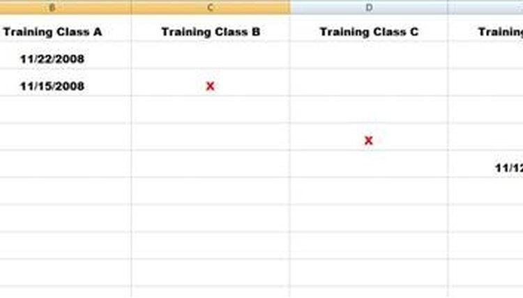 Sample Training Matrix