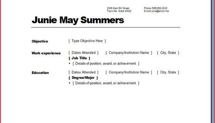 how to create print a resume for free