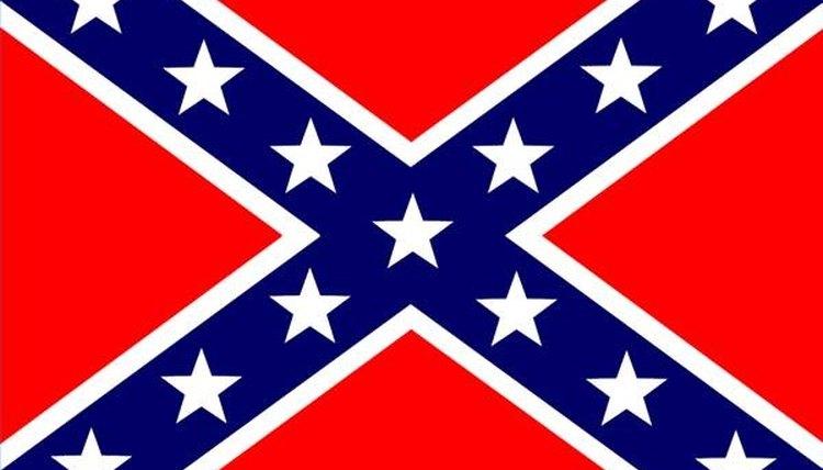 Fold a Confederate Flag