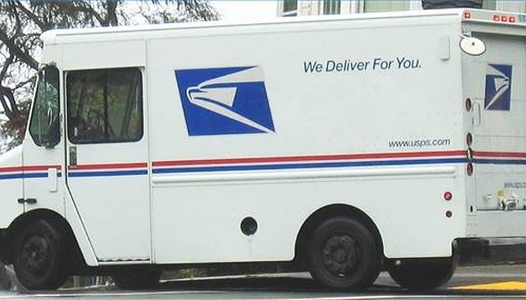 Typical Postal Delivery Truck Courtesy Of The United States Service