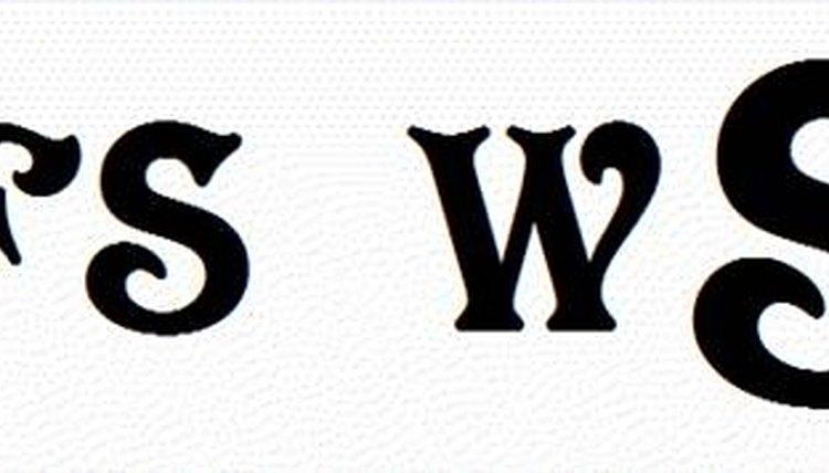 Three letter monograms