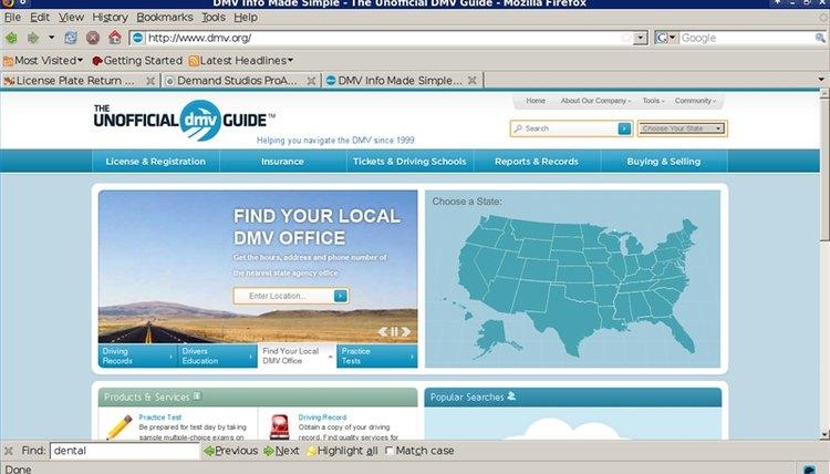 DMV.org homepage