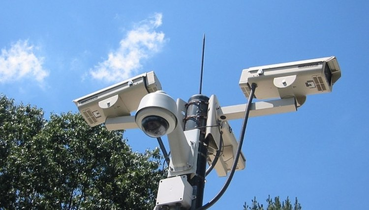 Surveillance cameras can help increase the security of a school campus.